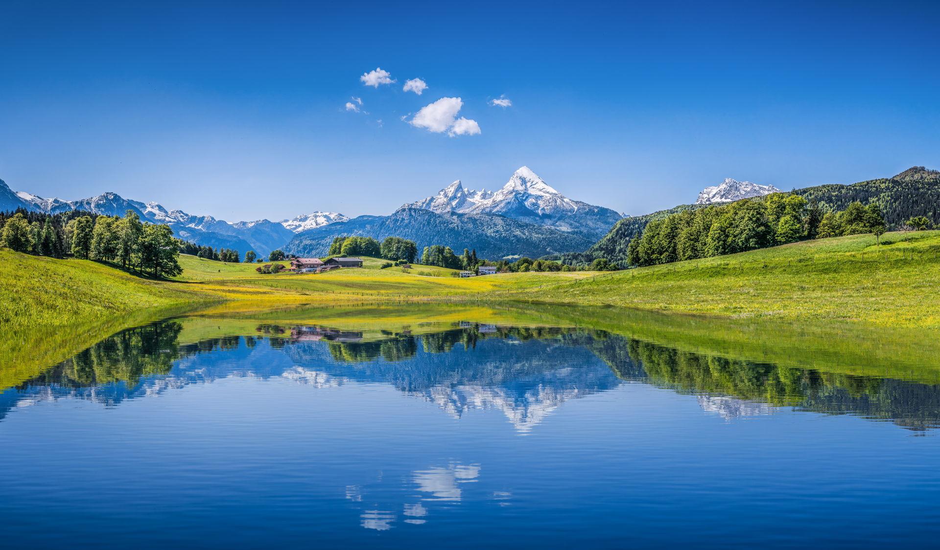 Camping in den Alpen und im Alpenvorland